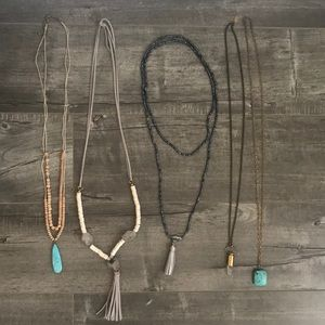 Statement necklaces, 5 necklaces